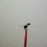 Formica alata in pelo di lepre nero e ali in hackles